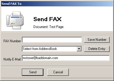 FAX SEND FROM